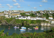 Cornwall Prints - Port Isaac 2 Print by Kurt Van Wagner