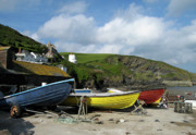 Isaac Framed Prints - Port Isaac Boats Framed Print by Kurt Van Wagner