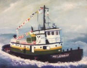 Leclair Prints - Port Jefferson Print by Suzanne  Marie Leclair