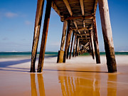 Coastline Digital Art - Port Noarlunga Jetty by Heather Thorning