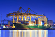 Storage Originals - Port of Klongkuay - Bangkok with blue clear sky by Anek Suwannaphoom