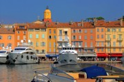 Provence Village Framed Prints - Port of Saint-Tropez in France Framed Print by Giancarlo Liguori