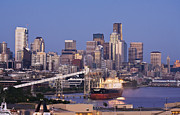 Seattle Skyline Art - Port of Seattle by Mike Reid