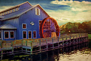 Waterwheel Posters - Port Orleans Riverside Poster by Lourry Legarde