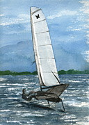 International Painting Originals - Port Tack  by Nancy Patterson
