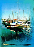 Sailboats In Water Prints - Port Townsend WA Marina Print by Sadie Reneau