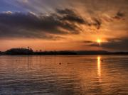 Kim Shatwell Digital Art - Portaferry Sunset by Kim Shatwell-Irishphotographer