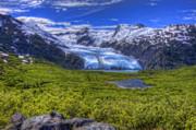 Portage Glacier Print by David Wagner