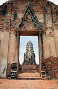 Ayutthaya Prints - Portal to the Temple Print by Artur Bogacki