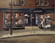 Edward Williams Art - Portalls at Night by Edward Williams