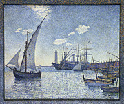 Yacht Paintings - Porte de Cette Les Tartanes by Theo van Rysselberghe