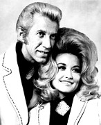 Dolly Parton Prints - Porter Wagoner, Dolly Parton, 1973 Print by Everett
