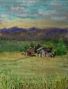 Barn Digital Art Prints - Porters Farm Print by Arline Wagner