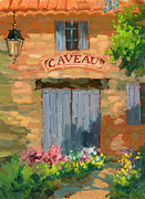 Wineries Paintings - Portes Des Caveau by Diane McClary