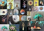 Copper Jewelry Acrylic Prints - Portfolio Collage 2012 Acrylic Print by Vanessa Williams