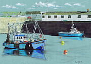 Great Britain Drawings - Porthcawl Harbour by Lynn Blake-John