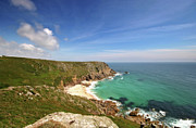 Azure Prints - Porthchapel beach West Cornwall Print by Mark Stokes
