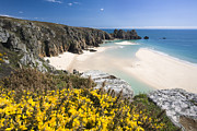 Land Feature Art - Porthcurno Towards Logans Rock, Conwall, England by David Clapp
