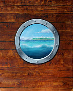 Barbara Marcus Painting Framed Prints - Porthole Framed Print by Barbara Marcus