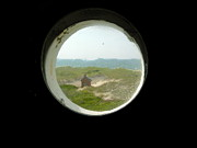 Birdseye Posters - Porthole Window at Race Point Poster by Valerie Twomey
