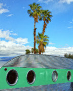 Airstream Prints - PORTHOLES Palm Springs Print by William Dey