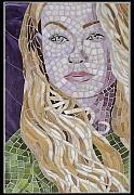 Mosaic Portrait Glass Art - Portia by Christine Brallier