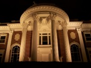 Night Scenes Digital Art Framed Prints - Portico at Night Framed Print by Jake Hartz