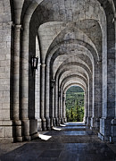 Municipality Prints - Portico from the Valley of the Fallen Print by Mary Machare