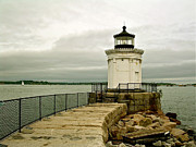 Frank Santagata Prints - Portland Breakwater Bug Light Print by Frank SantAgata