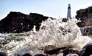Maine Lighthouses Photo Prints - Portland H2O Print by Emily Stauring