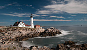 Www.guywhiteleyphoto.com Framed Prints - Portland Head Light 19482c Framed Print by Guy Whiteley