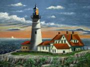 Portland Lighthouse Prints - Portland Head Light Print by Gordon Beck