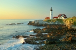 Portland Head Lighthouse Framed Prints - Portland Head Light No. 2  Framed Print by Jon Holiday