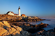 Portland Head Lighthouse Framed Prints - Portland Head Lighthouse Framed Print by Brian Jannsen