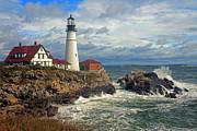 Portland Head Lighthouse Print by Jeremy Dentremont