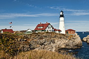 Cape Elizabeth Framed Prints - Portland Head Lighthouse Framed Print by John Greim