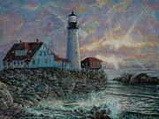 Portland Head Lighthouse Print by LeRoy Jesfield