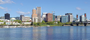 Rose Tower Posters - Portland Oregon skyline panorama. Poster by Gino Rigucci