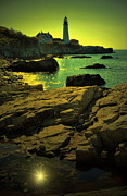 Portland Lighthouse Framed Prints - Portland Sunshine Framed Print by Emily Stauring