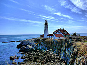 Nancie Martin Demellia Art - Portlandhead Light by Nancie Martin DeMellia