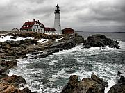 Nancie Martin Demellia Art - Portlandhead Lighthouse by Nancie Martin DeMellia