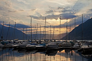 Morning Backlight Prints - Porto Patriziale Ascona Print by Joana Kruse
