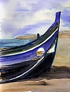 Fishing Boat Paintings - Portoboat by Anselmo Albert Torres