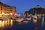 Docked Boats Framed Prints - Portofino at Dusk Framed Print by Jeremy Woodhouse