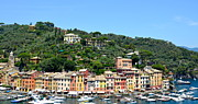Colorful Houses Prints - Portofino Print by Corinne Rhode