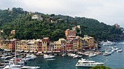 Europe Photo Framed Prints - Portofino Dreaming Framed Print by Marilyn Dunlap