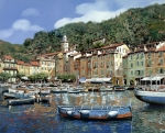 Seascape Framed Prints - Portofino Framed Print by Guido Borelli