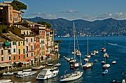 Portofino Italy Photo Framed Prints - Portofino Italy Framed Print by Allan Einhorn