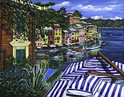 Sailboat Ocean Paintings - Portofino by Lisa Reinhardt