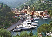 Portofino Italy Boats Framed Prints - Portofino Framed Print by Marilyn Dunlap